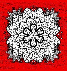 White pattern oriental ornament white pattern on vector