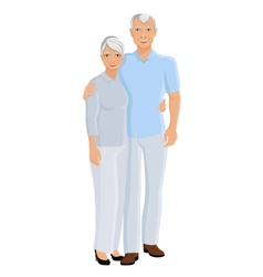 Senior couple full length vector