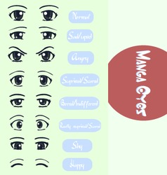 Manga eyes vector