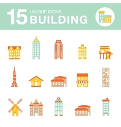Set of icons of houses vector