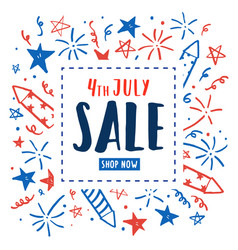 4th of july sale independence day flyer vector image vector image