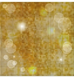 Abstract square golden mosaic background vector