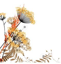 Arrangement of wild flowers vector image