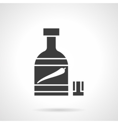 Pepper tincture glyph style icon vector
