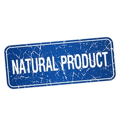 Natural product blue square grunge textured vector