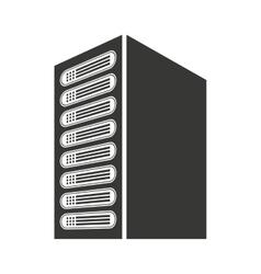 Computer cpu server icon vector
