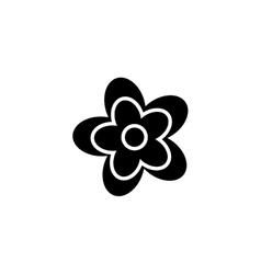 Abstract cute flower vector image
