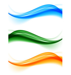 Abstract soft wavy elegant lines set vector