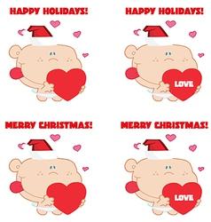 Baby cupid cartoon vector image vector image