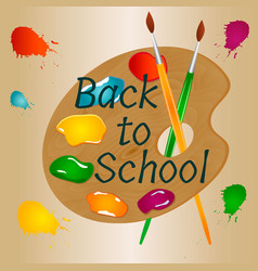 Back to school background with bright palette vector