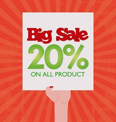Big sales vector image