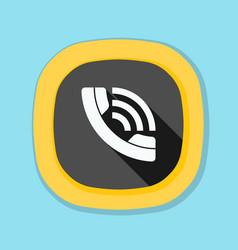 Call contact button vector