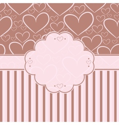 Card with label and seamless pattern with vector image