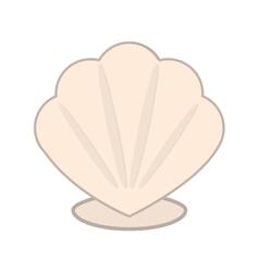 cartoon seashell icon vector image