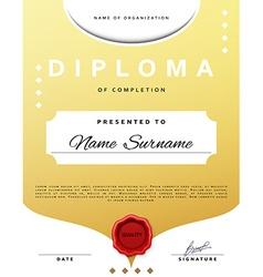 Certificate design Template diplom Border vector image