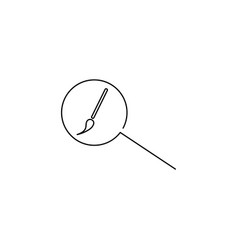 design search linear icon vector image vector image