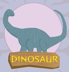 Dinosaur brontosaurus silhouette against the sun vector