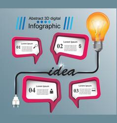 Infographic idea bulb light icon vector