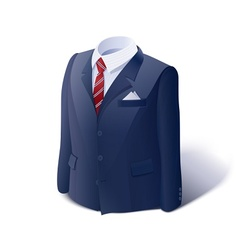 Jacket and shirt Business vector image