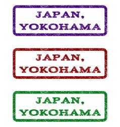 Japan yokohama watermark stamp vector