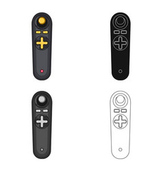 joystick for control single icon in cartoonblack vector image