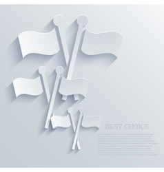 modern flags light background vector image