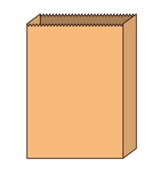 paper bag icon in colorful silhouette with thin vector image vector image
