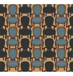 pattern with armchairs vector image vector image