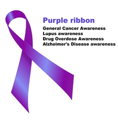 Purple ribbon vector image