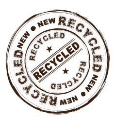 recycled ink stamp vector image vector image