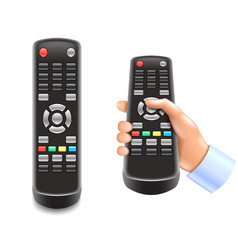 remote control tv isolated on white vector image