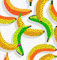 Retro 80s banana pattern background vector