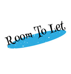 Room to let rubber stamp vector