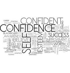 Self-confidence word cloud concept vector