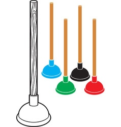 Set of plungers vector image vector image