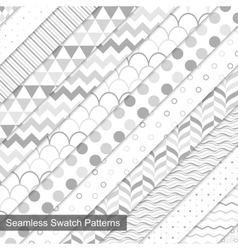 Swatch seamless patterns vector