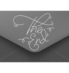 Valentines envelope the end vector image vector image