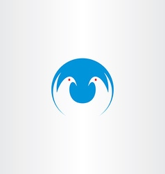 White dove freedom symbol icon logo vector