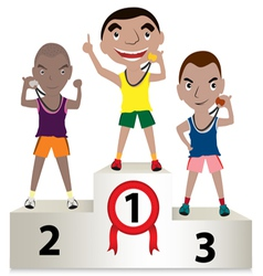 Winner sport mens vector