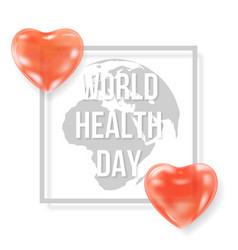 world health day typography vector image