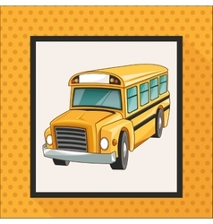 Yellow bus school design vector