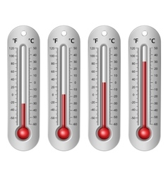 Thermometers different levels vector