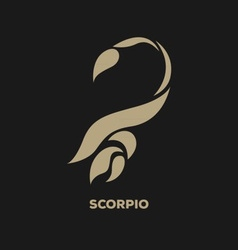 Scorpio horoscope icon vector