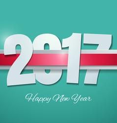 Happy new year 2017 on turquoise background vector