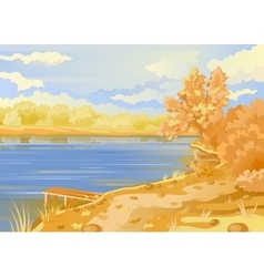 Autumn landscape in the open air vector image