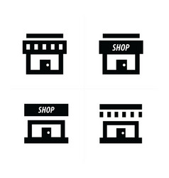 design store and shop icons vector image