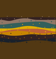 layers of the earth abstract background vector image
