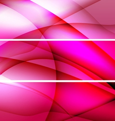 Red banners abstract background vector