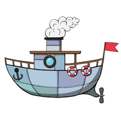 Cartoon ship vector