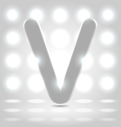V over lighted background vector